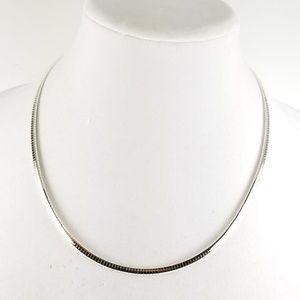 "Sterling Silver 20"" Omega Necklace 19.4g"